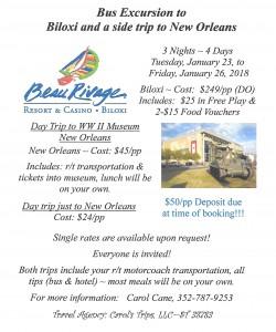 Biloxi Bus Trip 012318